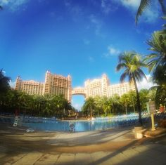 The famous Atlantis Resort in Nassau Paradise Island, The Bahamas.