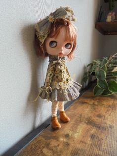 ◆ ブライスちゃん Outfit くしゅくしゅワンピース 3点セット ◆