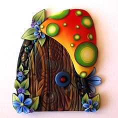 Toadstool House Fairy Door Pixie Portal Kids Room Decor