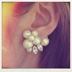 """""""人魚の涙♡""""真珠を使った美しく素敵なピアスで耳元華やかに♡にて紹介している画像"""
