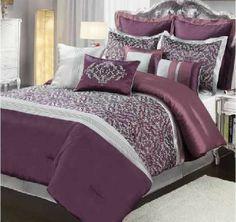 Amethyst 10-piece Comforter Set W/Bedskirt 4 Shams & 4 PILLOWS!!! Purple - Full/Queen