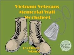 """This worksheet allows students learn about the Vietnam Veterans Memorial Wall and the Vietnam War in general. The website is short, but it is packed full of information that will keep your students engaged.  This worksheet works great as a """"Do Now Activity"""" or as a complement to any lecture or lesson plan on Vietnam."""