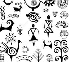 Illustration about Set of primitive ethnic hand drawn drawings. Illustration of people, anthropology, meander - 32281646 Arte Tribal, Tribal Art, Ancient Symbols, Ancient Art, Shaman Symbols, Native Art, Native American Art, Motifs Primitifs, Worli Painting