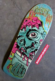 For today's www.BoardPusher.com Featured Deck, the folks over at www.accentlv.com thought it made sense to slap an old school style skateboard graphic on an old school shape deck. We agree.