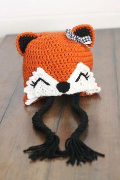 Crochet fox hat forest fox boy or girl by LittleSunshineShop11