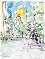 Boston College watercolors