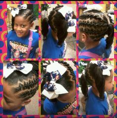 LITTLE GIRL HAIRSTYLES / BRAIDS / PONY TAIL / UP DO / KIDS / GIRL / HAIR / PROTECTIVE HAIRSTYLE / NATURAL HAIRSTYLE / SCALP BRAIDS