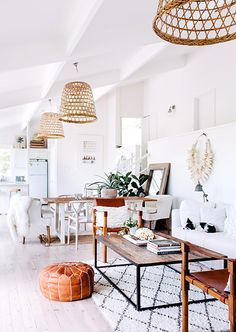 I love the way each area is effortlessly defined in the large, open room.