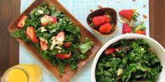 Strawberry-Almond-Kale Salad with Citrus Vinaigrette | Recipes | Food | Living | PETA
