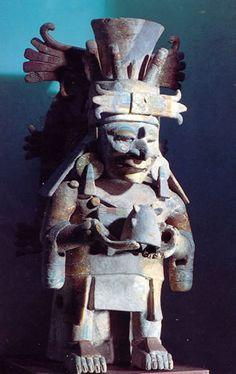 Incensario dios chac cultura maya