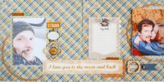 Layout from Sikirić Strong collection BE brads Calico woodveneers Studio Calico, My Dad, Dads, Challenges, Strong, Scrapbook, Memories, March 2014, Nest