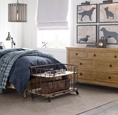 Karl's dog silhouettes that he created for Restoration Hardware Baby & Child.