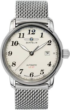 Zeppelin Watch Count Zeppelin #bezel-fixed #bracelet-strap-steel #brand-zeppelin #case-depth-12mm #case-material-steel #case-width-40mm #classic #date-yes #delivery-timescale-call-us #dial-colour-cream #gender-mens #movement-automatic #official-stockist-for-zeppelin-watches #packaging-zeppelin-watch-packaging #style-dress #subcat-count-zeppelin #supplier-model-no-7656m-5 #warranty-zeppelin-official-2-year-guarantee #water-resistant-50m
