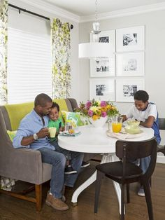 Rethink your dining room seating #hgtvmagazine http://www.hgtv.com/decorating-basics/rebuilding-your-dream-home/pictures/page-7.html?soc=pinterest