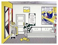 ARTY FACTORY GOOD definition of pop art 'The Artist's Studio No. 1 (Look Mickey)', 1973 (oil, acrylic resin and sand on canvas)