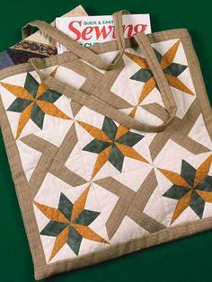 Quilting - Clothing & Accessories Patterns - Bag & Tote Patterns - Double Star Tote