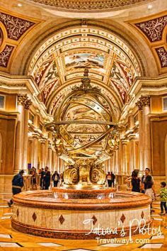 Italian fountain in the Venetian Hotel lobby Las Vegas