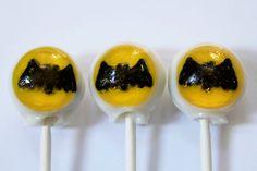 Batman super hero lollipops from Vintage Confections