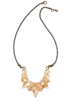 Pamela Love Resin Tribal Spike Necklace In Crushed Shell by Pamela Love