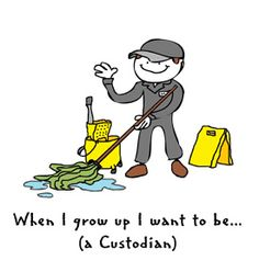 School Janitor Clip Art | Royalty-Free (RF) Clipart ...