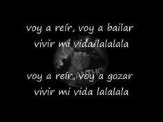 "Marc Anthony - Vivir Mi Vida (letra...2013) ""voy a reir, voy a bailar, voy a vivir mi vida, lalala"""