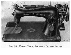Singer Sewing machine 15-91 Oiling Points 1