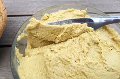 "Thick and creamy vegan ""cheese"" that you can spread on toast, crackers, or anything else you like. Made from raw cashews, nutritional yeast, and cornstarch."