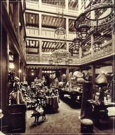 Libertys old toy atrium | Period photograph from the Liberty Archives