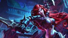 Sexy Girl Katarina Sword Blade Game League of Legends HD Wallpaper 2560×1440