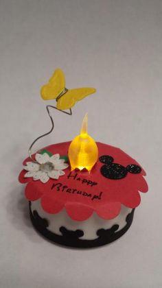 Mickey Mouse tealight cake made by me (Teresa V)