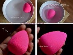 First, make sure the beauty blender is wet. If it is dry, it will not work