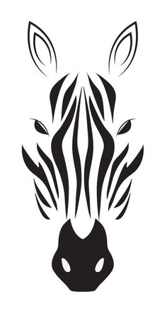zebra drawing in black & white | @ indulgy |:
