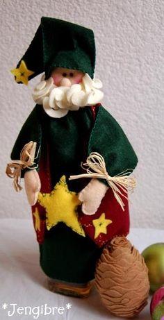 Botellero de Santa en fieltro