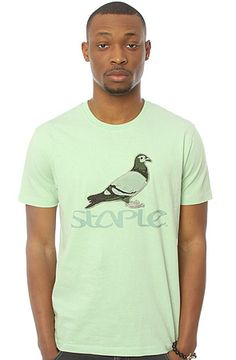 The Basic Tee in Heather Green by Staple