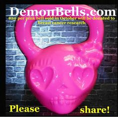 Pink kettle bell I want!