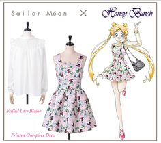Honey bunch (maybe a dif pattern/colours on the dress) Nerd Fashion, Sailor Fashion, Japan Fashion, Sailor Moon Dress, Sailor Moon Cosplay, Casual Cosplay, Cosplay Outfits, Sailor Moon Collectibles, Anime Inspired Outfits