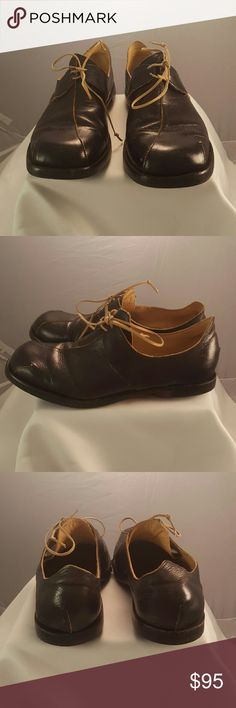 CYDWOQ - oxfords Dark Brown branch square toe with leather laces CYDWOQ Shoes Flats & Loafers