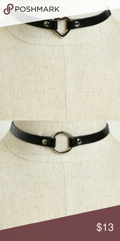 Leather Heart Or Circle Choker New faux leather heart or circle choker. See boutique for more fashions! Follow us to see New items posted daily! #love #beauty #makeup #fashion #swimsuit #streetwear #style #trend #boho #matte #201 #designer #crop #mid #wedding #marriage #women #plussize #plus #petite #small #medium #large #unicorn #brush #gold #silver #human #hair #dress #shirt #short #top #sunglasses #watches #jewelry #choker #multilayer #bohemian #rings #leggings #necklace #bracelet #crop…