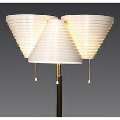 Artek Alvar Aalto A809 - Three Shade Floor Lamp