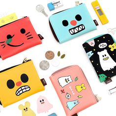 Gunmangzeung Ghost pop zip pocket card case by Gunmangzeung. The Ghost pop pocket card case is a so cute and adorable illustrated card wallet. Card Wallet, Card Case, Cute Coin Purse, Sweet Bags, Stationary Design, Cute Monsters, Pocket Cards, Cute Illustration, Coins