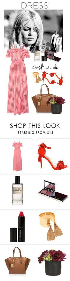 """""""Bridgit"""" by olesyabond ❤ liked on Polyvore featuring Draper James, Steve Madden, D.S. & DURGA, Kevyn Aucoin, Beauty Is Life, LULUS, Carvela Kurt Geiger and Paper Whites"""