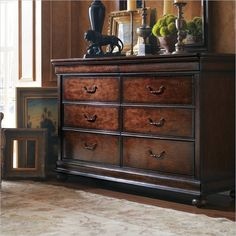 Stanley Louis Philippe Burnished Honey Dresser