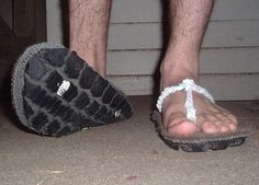 recycled tire / carpet / shopping bag  shoes!