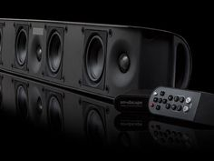 Paradigm's Soundscape, it's clearly the best sound bar an audiophile heard in ages. The speaker houses seven drivers, four 4-inch woofers and three 1-inch aluminum dome tweeters, each driver is powered by a 50-watt Class D amplifier. A subwoofer isn't part of the system.