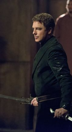 "4x03 Restoration - Malcom Merlyn as Ra's al Ghul - I almost typed ""Jack Harkness"" XD - Arrow"