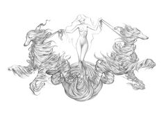 James Jean - Black Dog pencil drawing (Would make such an awesome chest tattoo) Dog Pencil Drawing, Dog Drawings, Art Puns, Tribal Sleeve Tattoos, Wing Tattoos, Star Tattoos, Angel Tattoo Designs, Beautiful Sketches, Scary Art