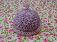 CROCHET-TUTO-BONNET naissance tres simple