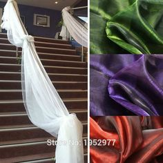 Cheap Event & Party Supplies, Buy Directly from China Suppliers:				Quantity:1PCS				Material:Organza				Size:135cm*500cm				We have 2 size for Table Swags ,please check in our store: