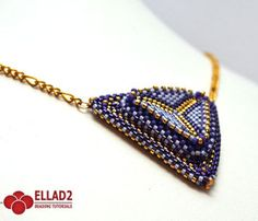 Beading Tutotial Build it Up Triangle Pendant by Ellad2