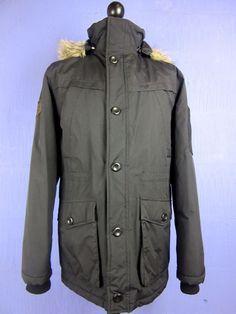 PETER STORM black PARKA PADDED COAT faux fur hood SMALL cj12    eBay